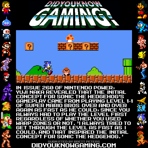 didyouknowgaming:  Sonic the Hedgehog.