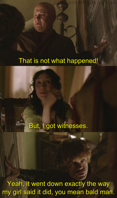 Bill: That is not what happened!Donna: But, I got witnesses.Tom: Yeah, it went down exactly the way my girl said it did, you mean bald man. Bus Tour - Episode 4.21 Submitted by the always amazing: singlewalkrun