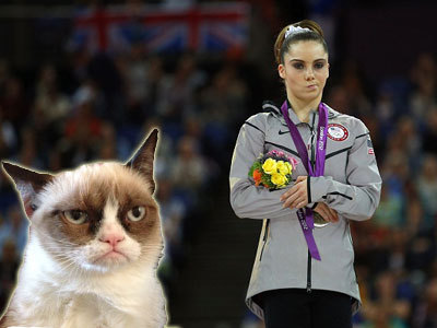 9 Things Unimpressed Cat Is Deeply Unimpressed With: McKayla Maroney