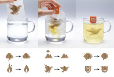 Calm Tea Bags, Boh Camomile Tea Packaging & Ad by M+C SaatchiTo promote Boh brand camomile tea bags, M+C Saatchi, Malaysia created tea bags, packaging and a widget that, like camomile, bring calm to your world by changing stressing symbols into calm ones once the tea is dissolved.