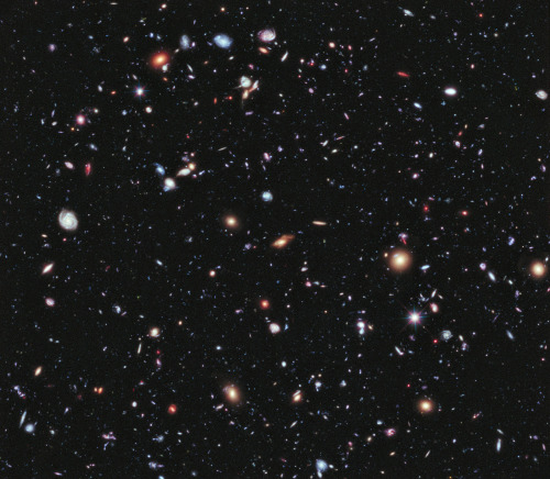 Most Detailed Image of the Universe Ever Captured NASA has just published the most detailed view of the Universe ever taken. It's called the Extreme Deep Field—or XDF for short. It took ten years of Hubble Space Telescope photographs to make it and it shows some the oldest galaxies ever observed by humans, going 13.2 billion years back in time. It's a mindblowing, extremely humbling view. Not only for what it shows, but for what it doesn't show. While this image contains about 5,500 galaxies, it only displays a tiny part of the sky, a ridiculously small slice of the Universe.