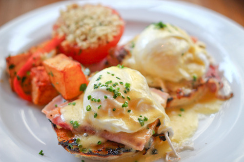 clubmonaco:   Eggs Benedict, Plein Sud  Located in the Smyth Hotel in Tribeca, Plein Sud's menu is packed with brunch options including an amazing eggs benedict.