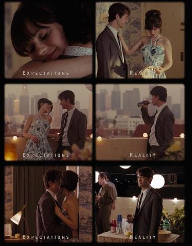 (500) Days of Summer - Expectations / Reality One of the depressing days…