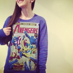 Love my baby's new sweater!! For #Avengers day!! #marvel #geeklife @thistypeoflove  (Taken with Instagram)