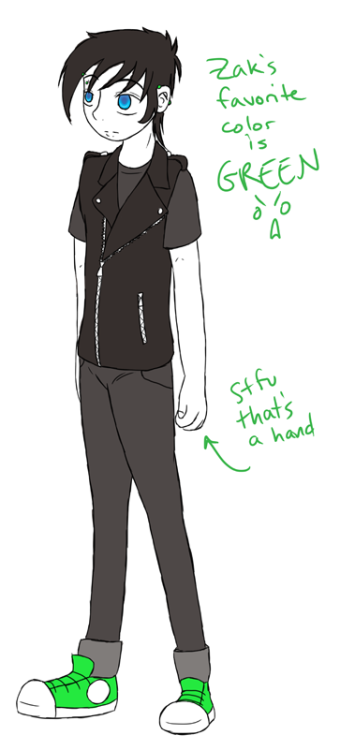 to be fair I drew a Zak too.yeah, I just traced over the same pose, stfu i can do that it's my drawing >:U