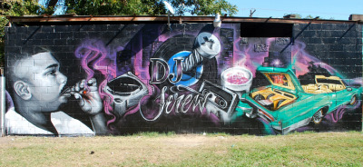 pushitreelgood:  DJ Screw Mural in Htown by Sode and Rabye
