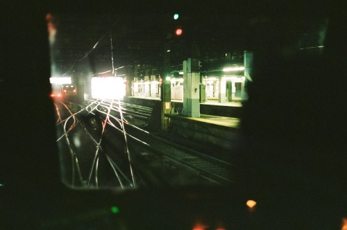 Pulling out of NY Penn Station. May 2012.
