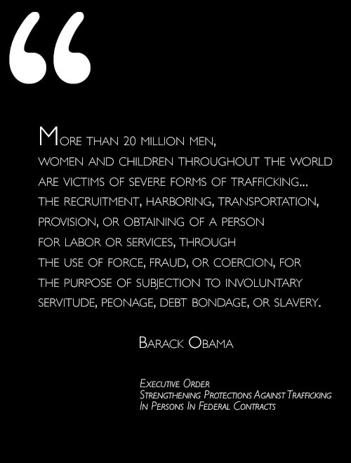 "Today Obama issued an executive order against human trafficking. He announced his move at the Clinton Global Initiative Conference in New York:  It ought to concern every person, because it is a debasement of our common humanity.  It ought to concern every community, because it tears at our social fabric.  It ought to concern every business, because it distorts markets.  It ought to concern every nation, because it endangers public health and fuels violence and organized crime.  I'm talking about the injustice, the outrage, of human trafficking, which must be called by its true name — modern slavery.      Human trafficking was not something I knew much about before starting production on the Atavist story Stowaway. Stowaway is the journey of a young boy we call Fanuel who was a victim of trafficking. At the age of eight he became an orphan and lived on the streets of Addis Ababa, Ethiopia, until a stranger befriended him and offered him a better life in South Africa. His ""better"" life was as a domestic servant for the man, who beat him, broke his promise to send Fanuel to school, and threatened to turn him in to the authorities if he tried to leave. We call it an ""enhanced e-comic"" because it's a nonfiction comic that comes with a soundtrack and interactive features.  As for the rest, you'll have to read the story! It costs $2.99, which gets you access to both the Web version AND the iPad/iPhone App version. It's a collaboration between renowned nonfiction comics artist Josh Neufeld and investigative reporter Tori Marlan, who first met Fanuel in 2006. Marlan, a longtime friend of Neufeld, had never worked on a graphic novel but felt like it was a good fit for Fanuel's dramatic story. ""There is something about the comics medium that connects you with the experience of the characters,"" says Neufeld. There's a sense of intimacy. I certainly felt it while working on Stowaway, in a way that I hadn't quite experienced before. It also raises some interesting questions about the collision of art and journalism, which Marlan and Neufeld address in some behind-the-scenes extras, available via the App.  Listen to Marlan and Neufeld on Public Radio International's The World.  —Olivia Koski, Senior Producer"