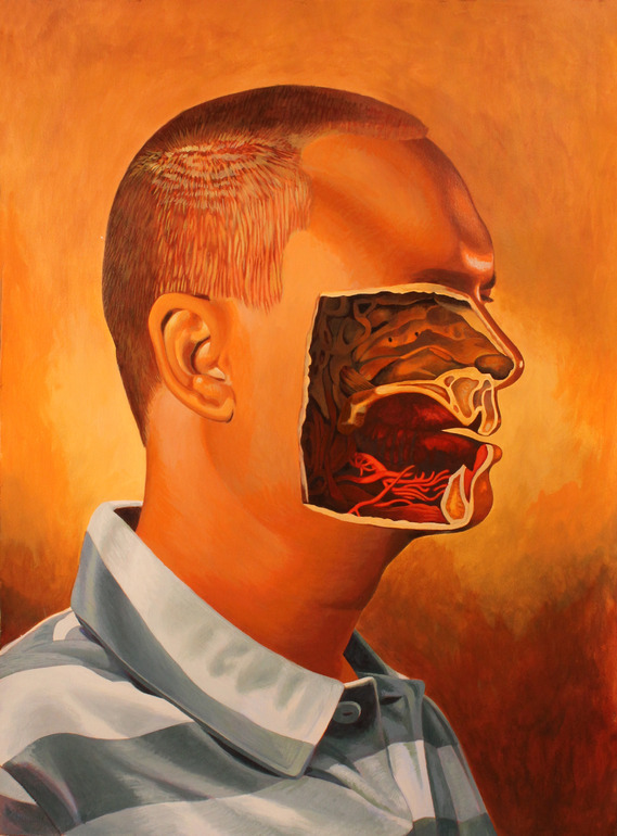Billy Reynolds, My Portrait With Center of Face Gouged OutAcrylic Painting Los Angeles, CA, United StatesOriginal: $1,400.00Print: $43.00