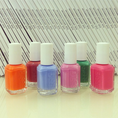 Inside Teen Vogue: Colorful Essie polishes