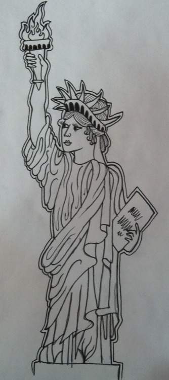 Lady Liberty… Clintonsawicztattoo.weebly.com Instagram; HateVedge