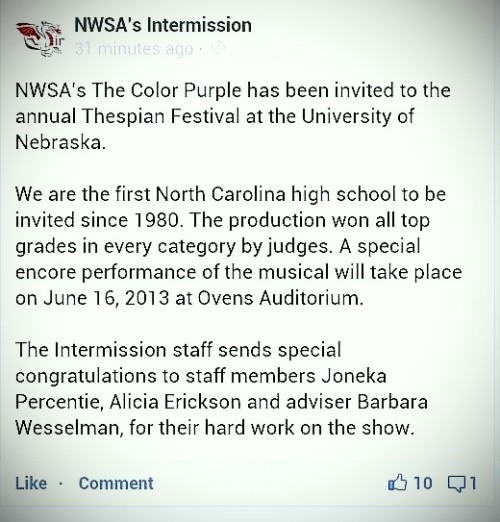 haliatheminimalist:  So proud to be a graduate of NWSA. :) also glad that I spent my summer with Justina building the set for this.