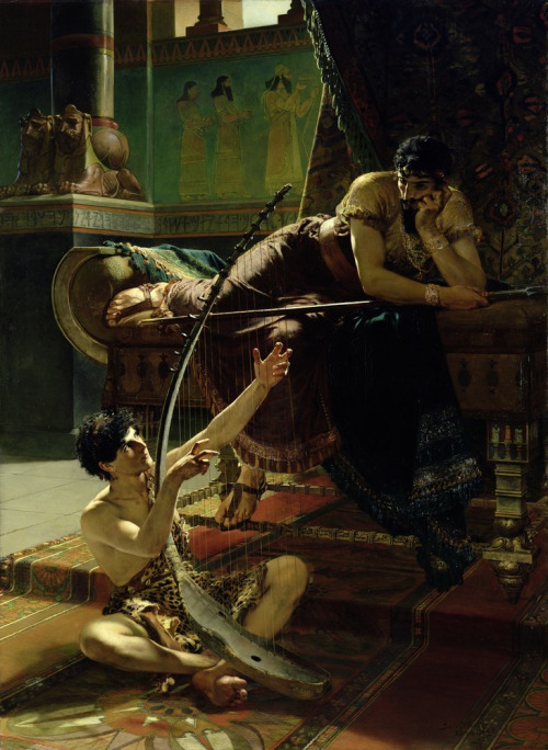 necspenecmetu:  Julius Kronberg, David and Saul, 1885