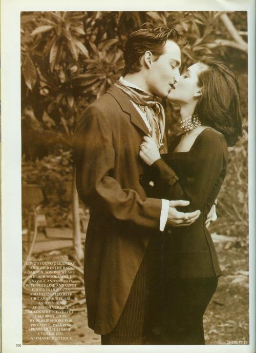 suicideblonde:  Johnny Depp and Winona Ryder in 1991  Winona Forever ;___________;