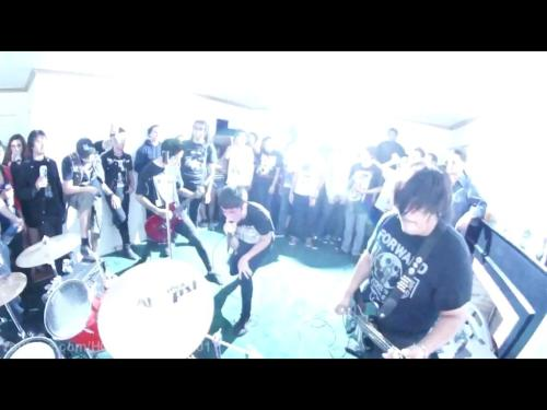 Picture from our show a while back. Long Beach house show with Barking Backwards and Fissure. -Marcel