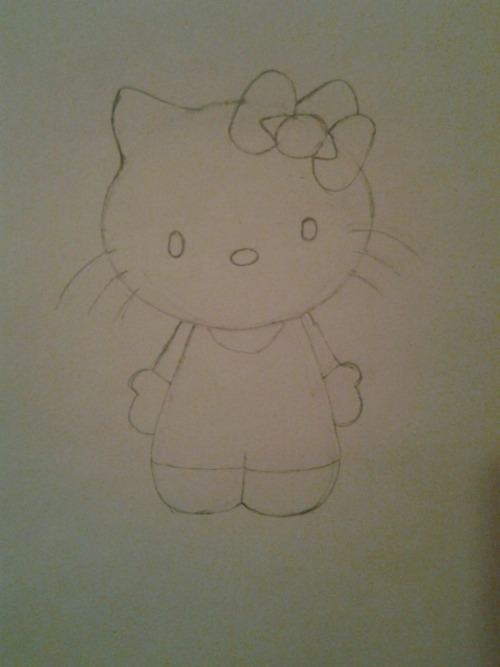 The Hello Kitty I drew for Jaylen