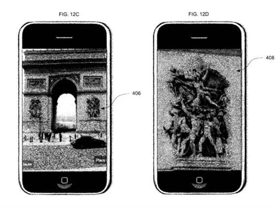 "nbcnews:  Google patent lets you zoom in from your photo to theirs (Photo: Google / USPTO) A Google patent has just been granted that allows for ""zooming using pre-existing imaging"" — in other words, zooming in from your photo to another one. For instance, you could go from your snapshot of the Mona Lisa directly to a high-res scan from the Louvre.  Read the complete story."