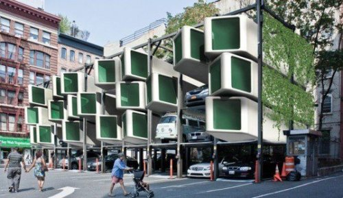Old Parking Elevators Transformed into Prefab Homes!