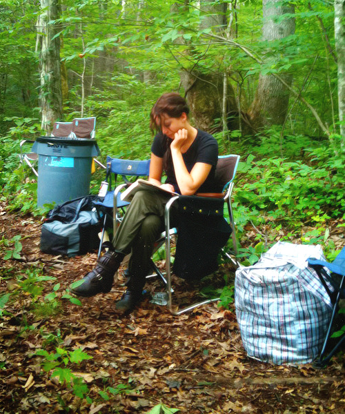 fictionminded:  Jen on THG set (x)