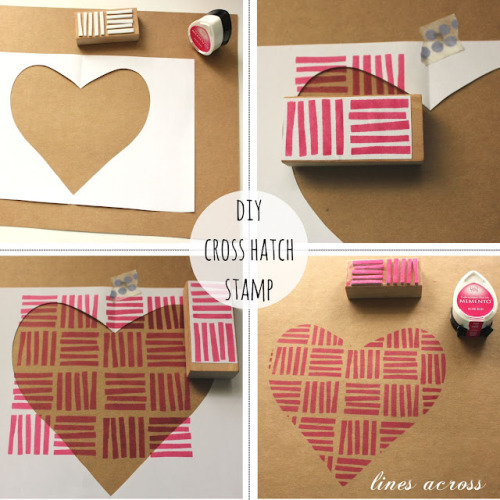 DIY Crosshatch Stamp(via Lines Across)