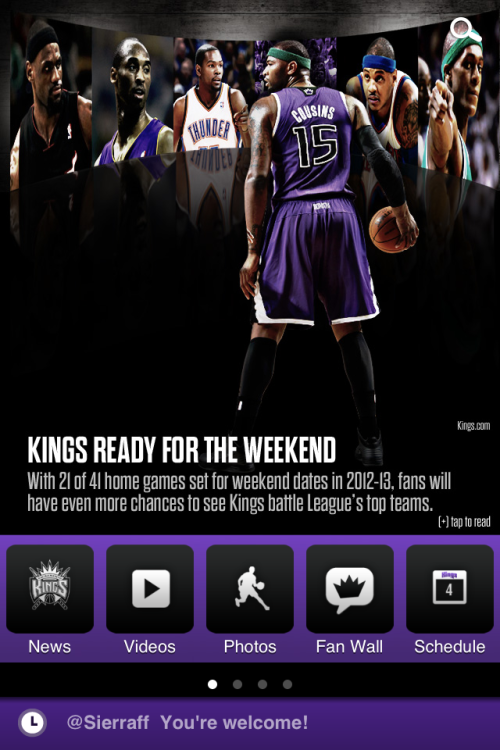 Sacramento Kings Release Their Official App