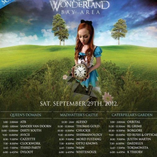#beyondwonderland #schedule #bayarea #rave #party #dance #insomniac #plur    (Taken with Instagram)
