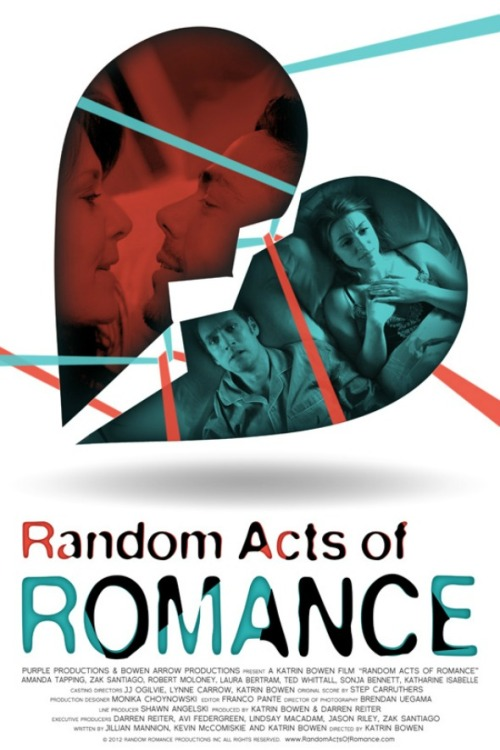 Random Acts of Romance poster World premiere at Vancouver International Film Festival on October 5th, 2012