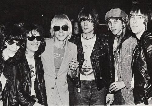 Iggy Pop and the Ramones photographed by Roberta Bayley.