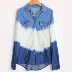 Bleached Denim Long Sleeve $38 Shop at MickeysGirl.com