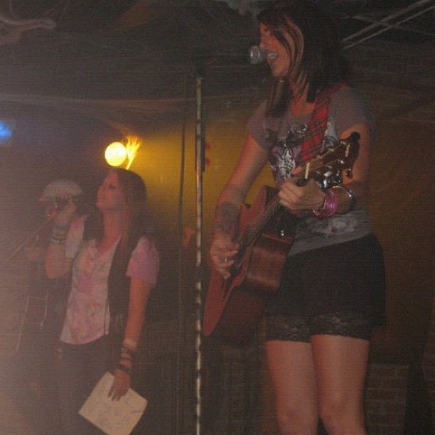 Remember that time I sang with Cassadee Pope? So proud of her on the voice. (Taken with Instagram)