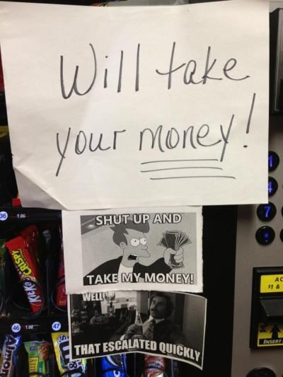 The vending machine in Crestview Hall at Indiana University Southeast