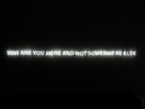 "Jeppe Hein - ""Why are you here and not somewhere else,"" 2004"