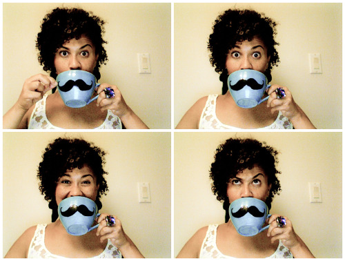 I mustache you a question… Hand-made mug, made by: ME! Thanks to my friend Roush for this awesome bday present experience. This mug is my constant reminder that it's only up from here