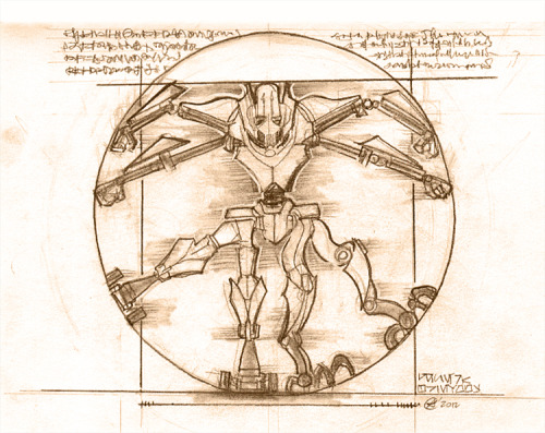 Great idea, ha! The Vitruvian Grievous.lol