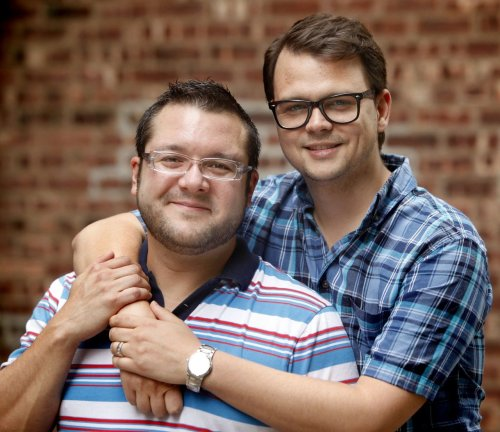 A gay couple from New Jersey is suing a group that used their engagement photo in an attack mailer against a Colorado Republican lawmaker who supported civil unions. The Southern Poverty Law Center plans to file a federal lawsuit today on behalf of the couple against the Virginia-based Public Advocate of the United States. The group used a photo of Brian Edwards and Tom Privitere holding hands and kissing. The mailer questioned the values of GOP Sen. Jean White, who faced a primary against a fellow Republican in a northwestern state district. White lost the primary.  (via Gay N.J. couple to sue after their photo was used unlawfully in anti-gay mailer | NJ.com)