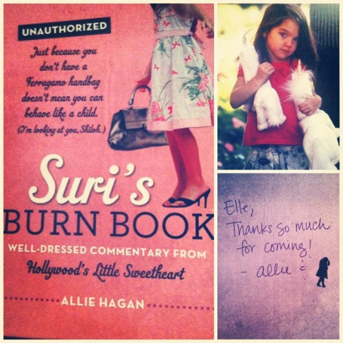 "Beyond excited to dive into the world of @surisburnbook. ""Try again tomorrow, Blue Ivy."" (Taken with Instagram)"