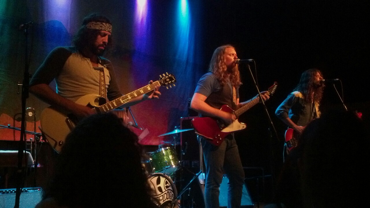 Saw The Sheepdogs put on a great performance late last week Have been following them online for a bit and voted for them for a while during the RollingStone Magazine contest, so ya I kinda fan-girled got their set list and autographs ahd shit..