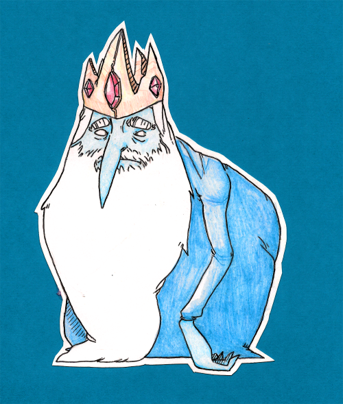 (2/3 Birthday Art for Morgan) Ice King - Ballpoint Pen/Colored Pencils/Cardstock