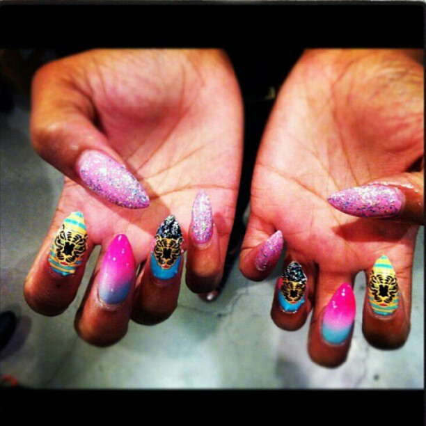 M.E. I dont play nice nail wraps - pic jacked from @omgdesiignerd0ll #melodyehsani #nailart #ncla  (Taken with Instagram)
