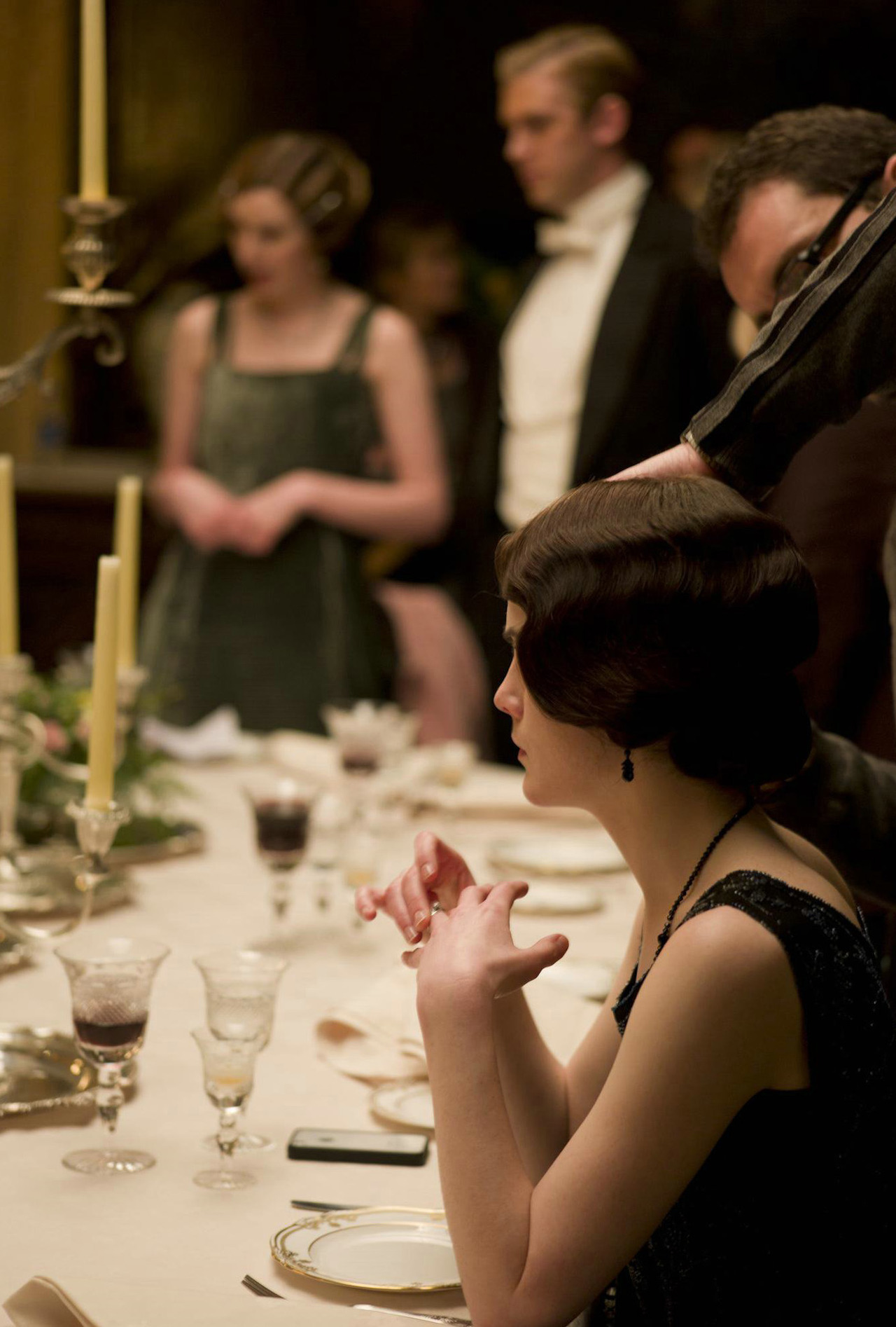 On the set of Downton Abbey season three
