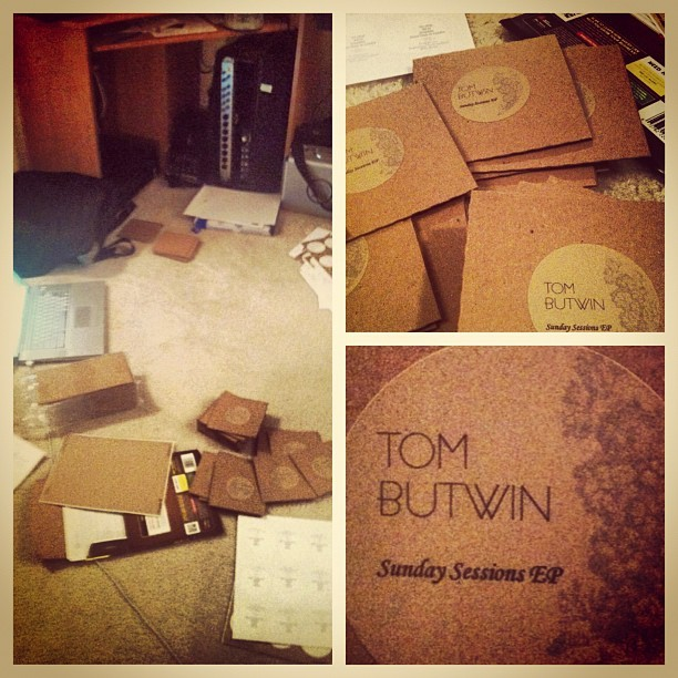 DIY EP production. #SundaySessionsEP #TomButwin #music #mi #diy #ep #detroit #michigan  (Taken with Instagram)