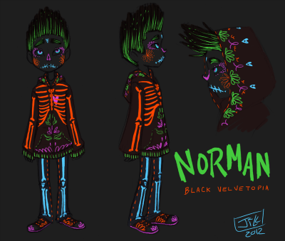 secret-soup:  Did somebody order a Black Velvetopia Norman? I'm not sure what Norman would be doing in Edgar's mind but how was a Black Velvetopia Norman not going to be dia de los muertos themed I ask you I considered not doing anything on his face but Raz gets the helmet and the goggles so Norman needed some color