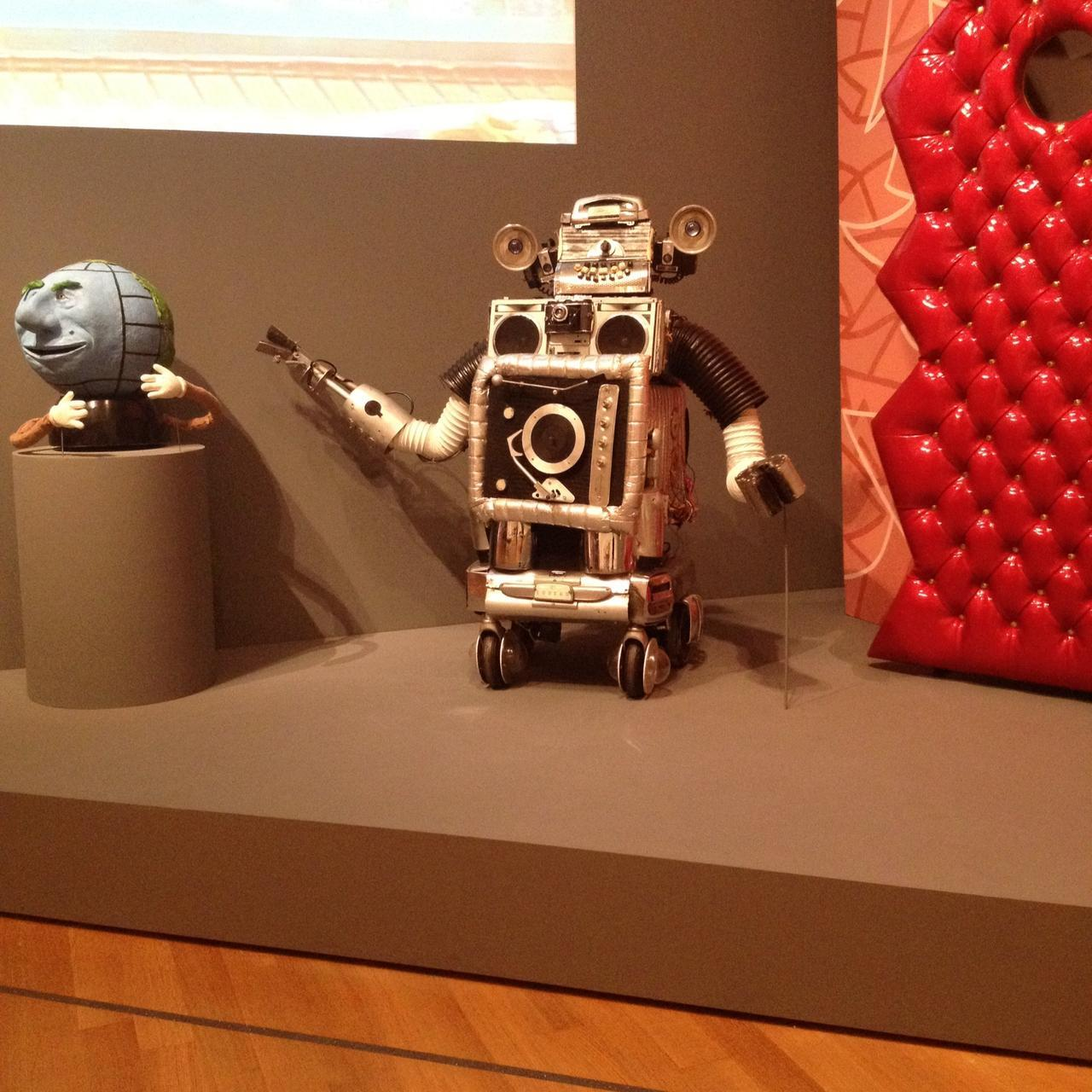 I went to MoMA last week and got to see Conky up close!! It's part of a childhood exhibit, it's so awesome. There's also a full-length Pee-wee's Playhouse episode playing in the background AND Globey AND Clockey AND the iconic red door. eee! I was so excited. I could have stayed for hours just staring at Conky…