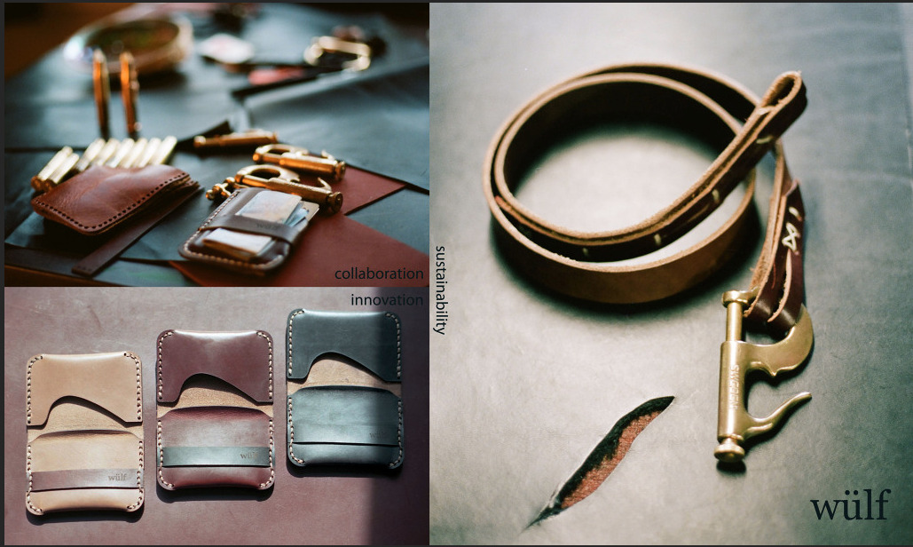 Alex Fairbairn's line of finely made leather goods, Wülf Work will be available at the Mutts & Co. Variety Store in Vancouver. All Wülf leather goods are crafted under the company's philosophy of sustainablity and innovation. By using laser to cut the leather, Alex keeps production local and minimizes material use.