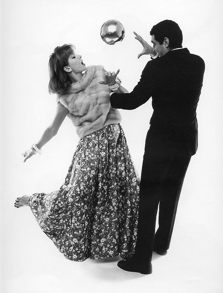 20th-century-man:  Suzy Parker, Omar Sharif; photo for Vogue by Bert Stern, 1961.