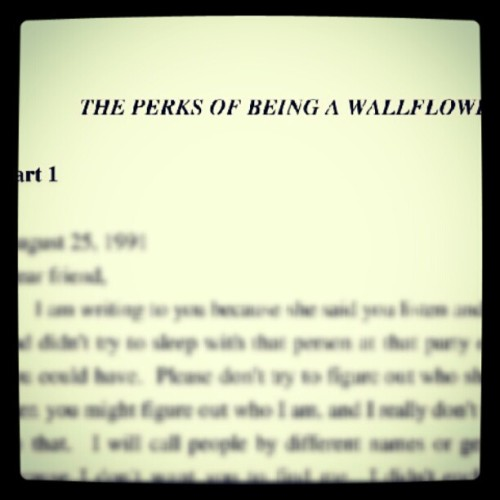 Read some pages before sleep. #Wallflowers #ebook #nook #ThePerksofBeingWallflowers #nightread #letters  (Taken with Instagram)