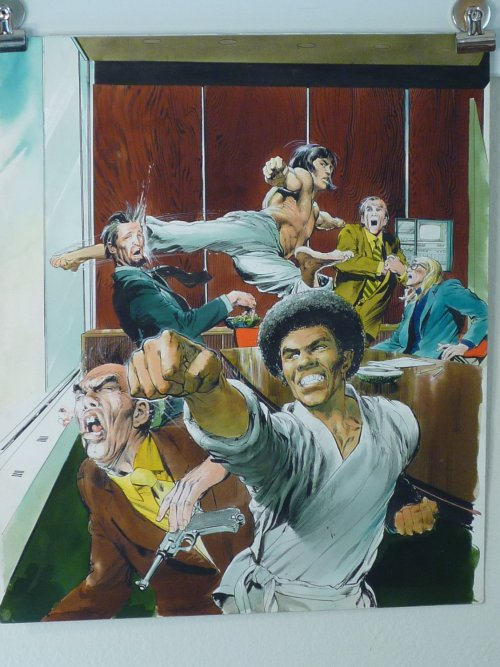 brianmichaelbendis:  Original Art - Deadly Hands Of Kung-Fu Cover by Neal Adams (1974)