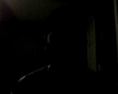 I was gonna take a pic, but then saw that I had no light to show my face. Whatever, took it anyways. You can see the bling around my neck.