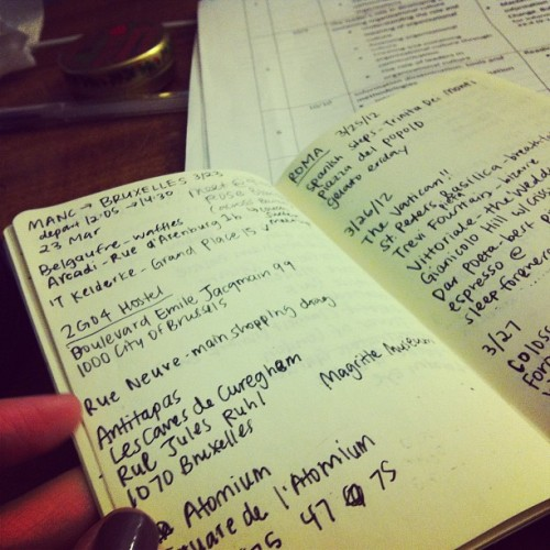 missin Europe #europe #moleskine (Taken with Instagram)
