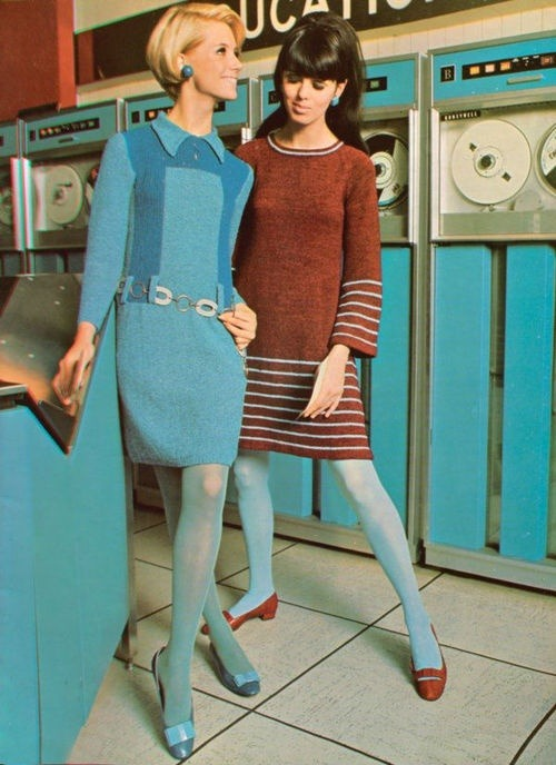 theswinginsixties:  Fashion goes tech, 1960s.